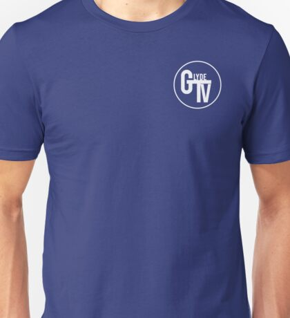 White GlydeTV Logo Unisex T-Shirt