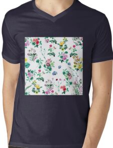 Flower wallpaper Mens V-Neck T-Shirt
