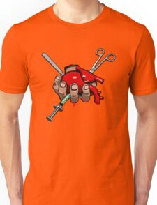Surgeon Simulator - Heart with Syringes - Official Merchandise Unisex T-Shirt