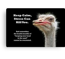 Keep Calm Ostrich Canvas Print