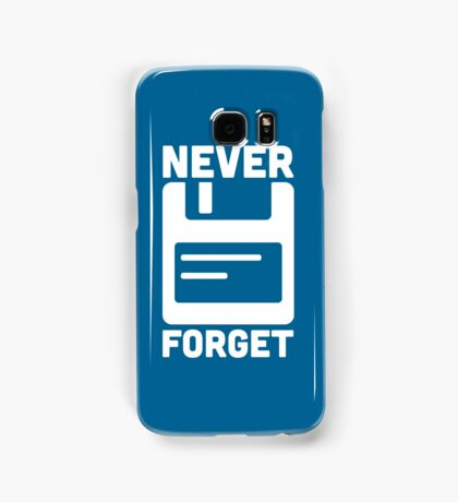Never Forget Floppy Disk Quote Samsung Galaxy Case/Skin