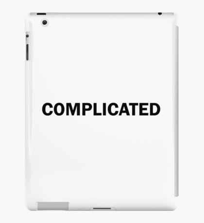 Complicated Funny Cute Bold iPad Case/Skin