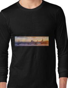 Wexford Town Bridge & harbour skyline, Ireland at Sunset Long Sleeve T-Shirt