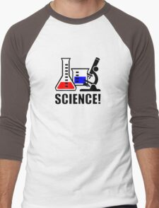 Excitement for Science! Men's Baseball ¾ T-Shirt