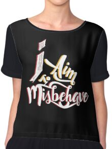Firefly - I aim to misbehave - Malcolm Reynolds - Serenity Chiffon Top