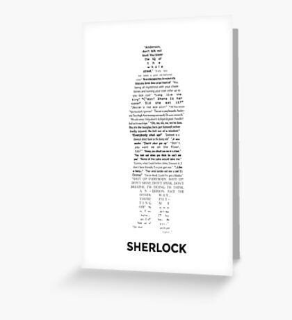 Sherlock - ArtWord of Benedict Greeting Card