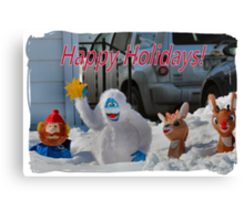 Merry Christmas from Rudolph and crew Canvas Print