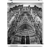 Strasbourg cathedral black and white view, France iPad Case/Skin