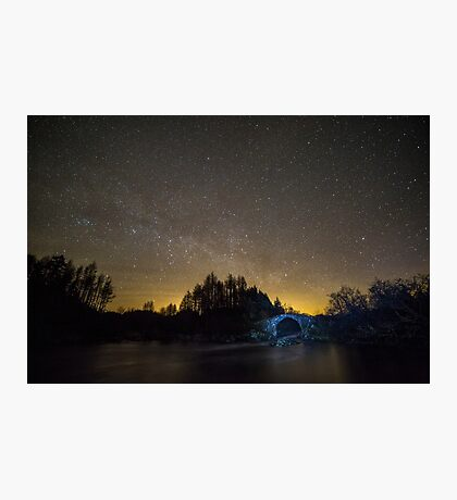 Old Packhorse Bridge at Night Photographic Print