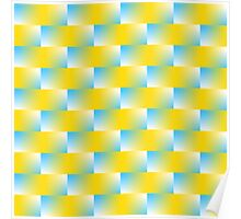 Blue and Yellow Pattern Poster