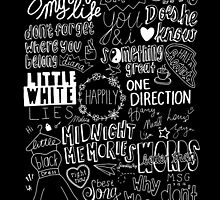 midnight memories collage white by sparklysky