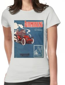 Antique 1905 automobile music sheet cover Womens Fitted T-Shirt