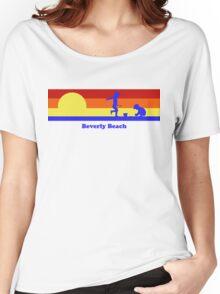 Beverly Beach Florida Sunset Beach Vacation Souvenir Women's Relaxed Fit T-Shirt