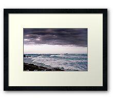Rough Seas Ahead Framed Print