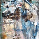 Arabian Horse in Blue by Nina Smart