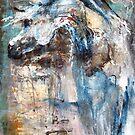 Arabian Horse in Blue by Nina Smart