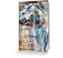 Arabian Horse in Blue Greeting Card