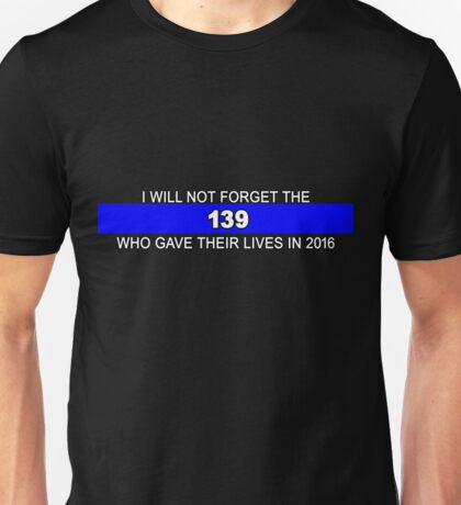 Remember the 139 on clear background Unisex T-Shirt