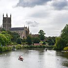 Winchester cathedral on the river Severn by Arie Koene