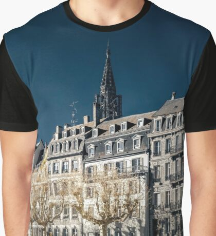 Strasbourg street infrared view, cityscape, France Graphic T-Shirt