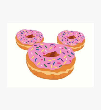 Mouse Donut Art Print