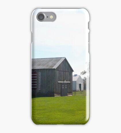 BARN WITH US FLAG iPhone Case/Skin