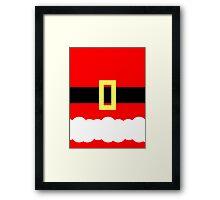 Minimalist Santa Framed Print