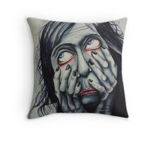 Agonized  Throw Pillow