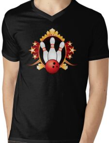 Bowling Mens V-Neck T-Shirt