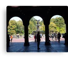 Bethesda Fountain, Central Park, New York City Canvas Print