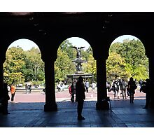 Bethesda Fountain, Central Park, New York City Photographic Print