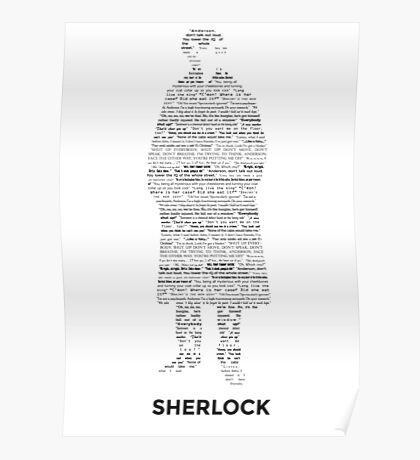 Sherlock - ArtWord of Benedict Poster
