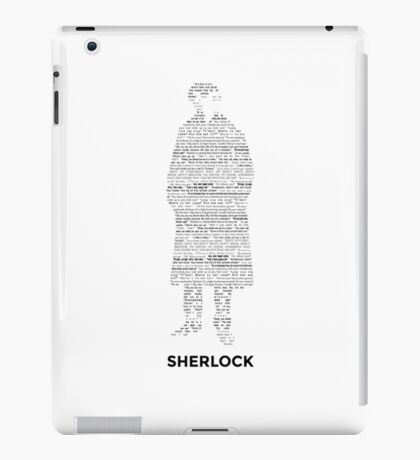 Sherlock - ArtWord of Benedict iPad Case/Skin