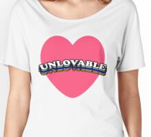 UNLOVABLE   TRENDY AESTHETICS TEXT ONLY GRAPHIC TEE Women's Relaxed Fit T-Shirt