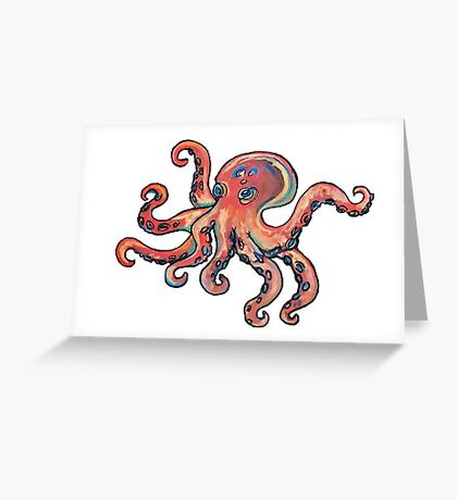 Psychedelic Octopus Greeting Card
