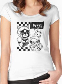 Cerviches Pizza Women's Fitted Scoop T-Shirt