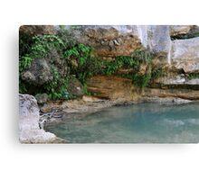 Well Campdevanol River Canvas Print