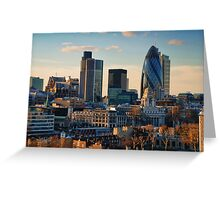 London City Of Contrasts Greeting Card