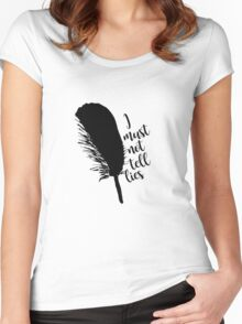 The Black Quill Women's Fitted Scoop T-Shirt