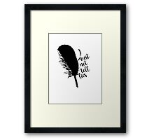 The Black Quill Framed Print