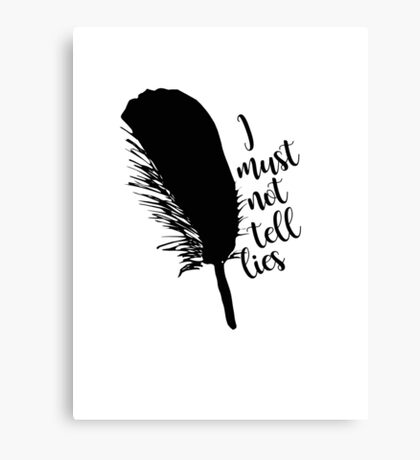 The Black Quill Canvas Print
