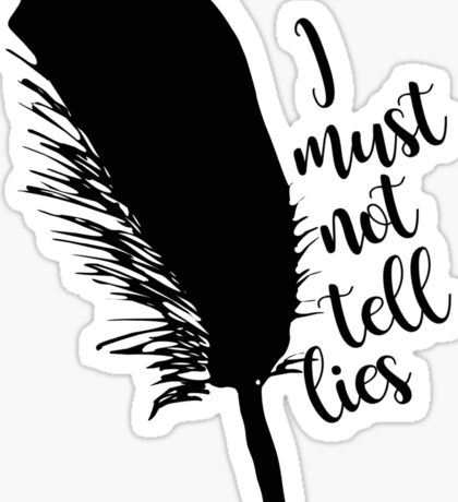 The Black Quill Sticker