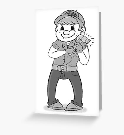 Old-Timey Fix-It Felix Greeting Card