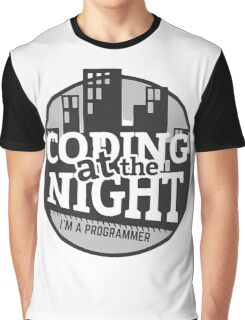 Coding At The Night Graphic T-Shirt