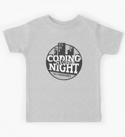 Coding At The Night Kids Tee