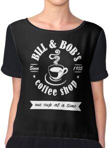 Coffee Shop Chiffon Top