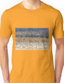 Snow Geese At Willow Point Unisex T-Shirt