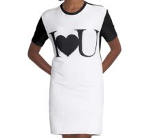I love you V.1.1 Graphic T-Shirt Dress
