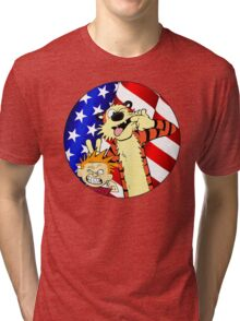 Calvin and hobbes america Tri-blend T-Shirt