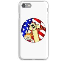 Calvin and hobbes america iPhone Case/Skin